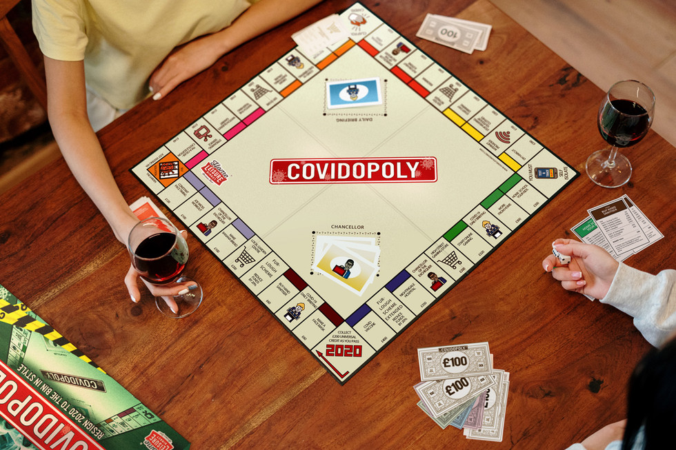 Promotional Shot One: Two Players Playing Covidopoly