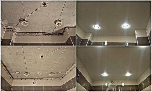 Натяжной потолок в ванную Новосибирск МЖК