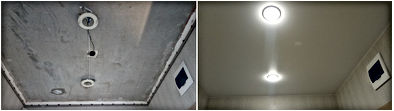 Натяжной потолок в коридор Новосибирск МЖК