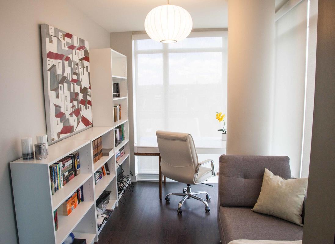 Condo Home Office Interior Decor