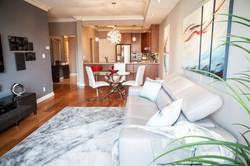 Condo Living Room Interior Decor