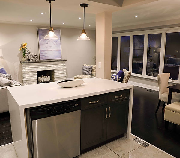 kitchen,brick wall,white kitchen,stainless steel,hardwood flooring, lighting,transitional,rustic,classic,fridge,sink,faucet,stone,backsplash,quartz,hardware,pulls,inspiration,shaker,fruit,decor,design,interiors,interior design,kitchen design,window,washing machine, white walls,chrome,small kitchen, toronto,mississauga,GTA,designer,