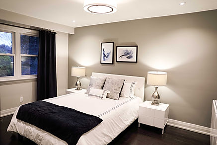 bedroom, purple,master,accent chair, stage,carpet,rug,curtains,drapes,side tables,flower,lamp,modern, navy, grey,accent wall,duvet cover,pillows,glozzy flooring,kitchen,brick wall,white kitchen,stainless steel,hardwood flooring, lighting,transitional,rustic,classic,fridge,sink,faucet,stone,backsplash,quartz,hardware,pulls,inspiration,shaker,fruit,decor,design,interiors,interior design,kitchen design,window,washing machine, white walls,chrome,small kitchen, toronto,mississauga,GTA,designer,