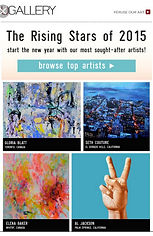 "Featured on uGallery's ""rising stars"" of 2015 page"