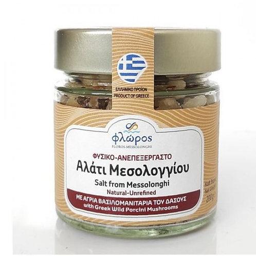 Salt with Greek wild porcini mushrooms