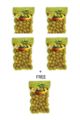 4 packs of olives + 1 FREE