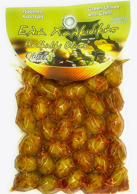 Halkidiki Green Olives-pepper (250g)