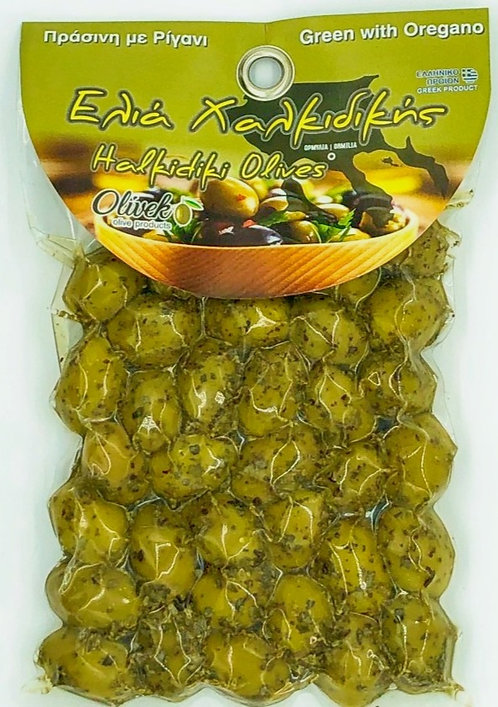 Halkidiki Green Olives-Oregano (250g)
