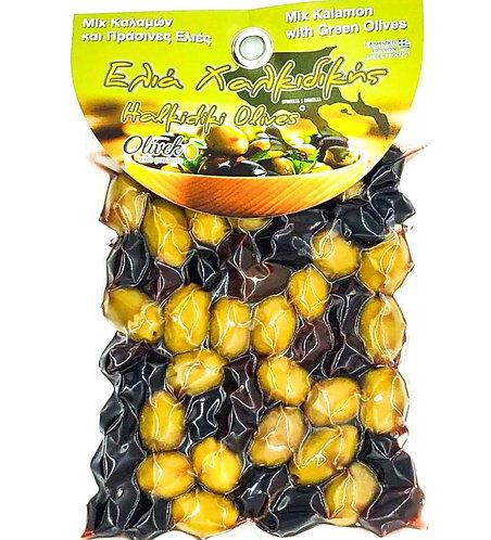 Mix kalamon-Halkidiki olives