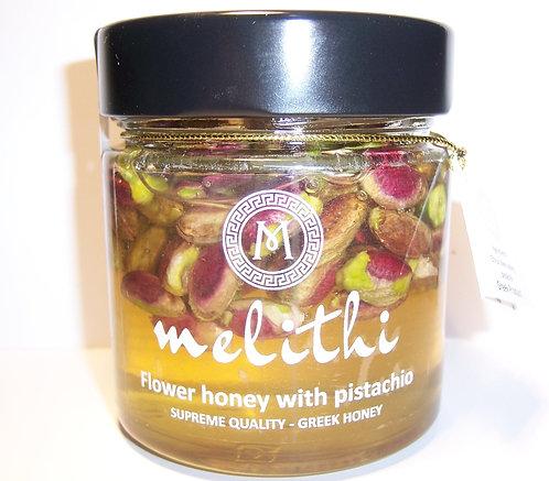 Honey with pistachios