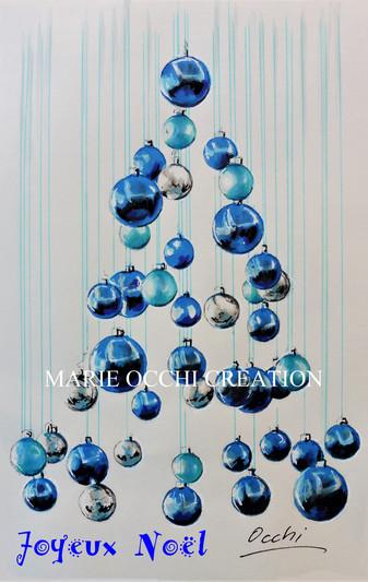 Carte de Noël Azur