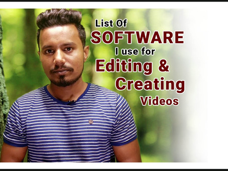 Top Software for Editing and Creating Videos -  Sonu Jatav