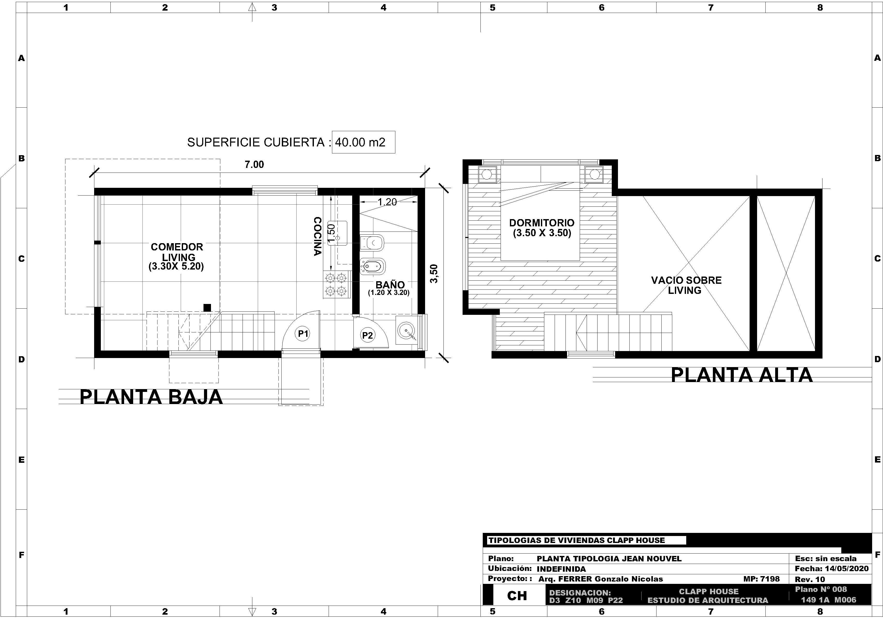 JEAN NOUVEL 1 Dormitorio 40m2