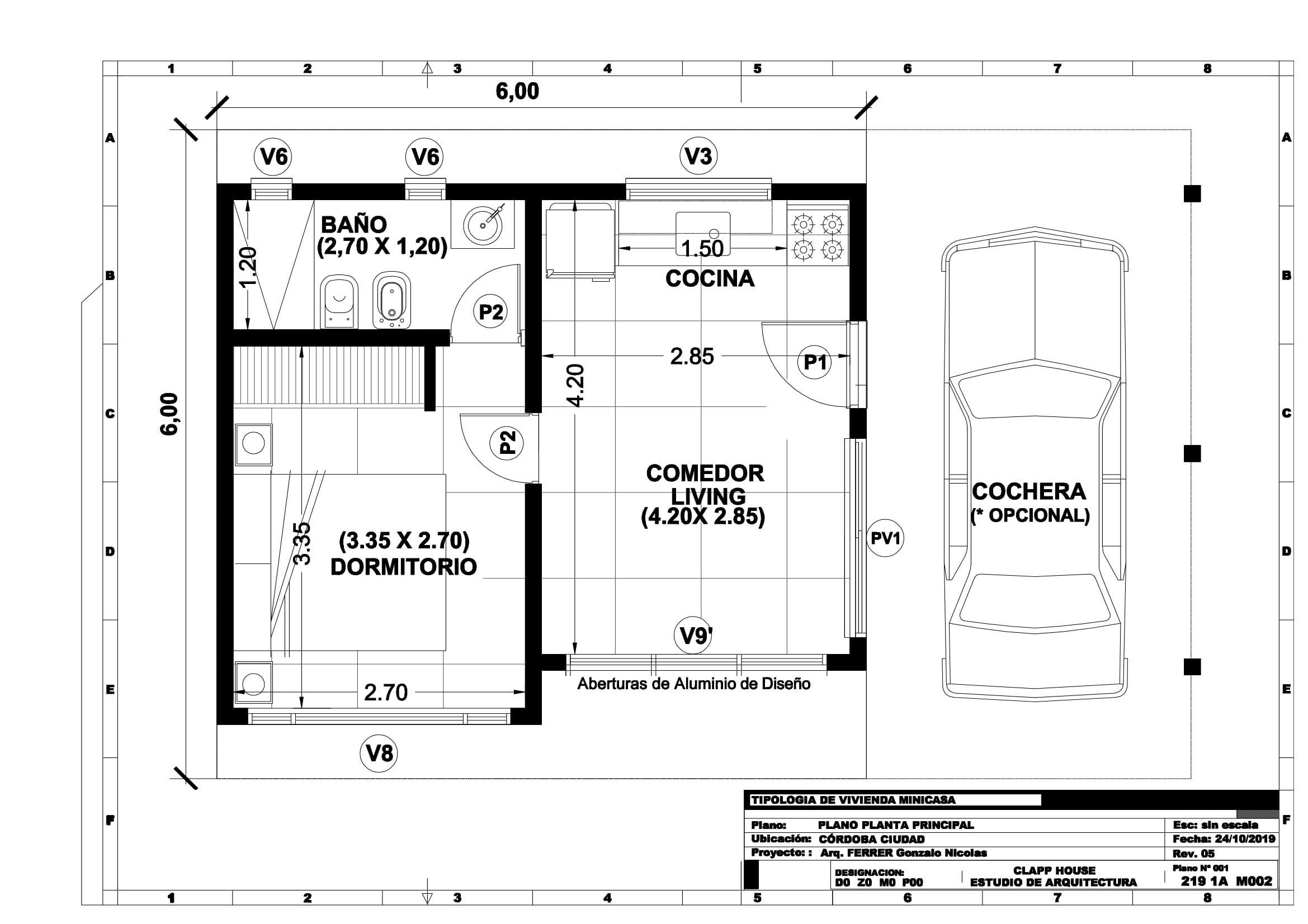 Frank Lloyd WRIGHT 36m2 de 1 Dorm.