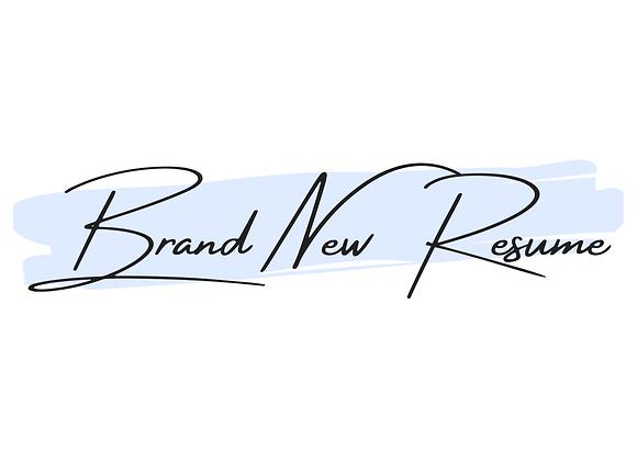 Brand New Resume