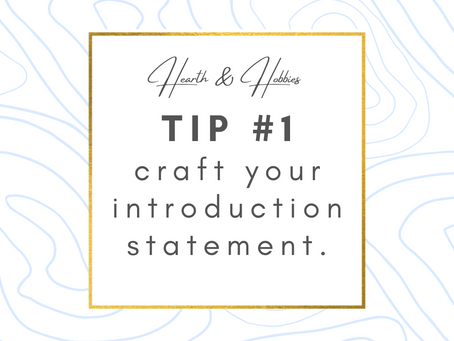 """Tell Me About Yourself:"" Crafting Your Introduction Statement"