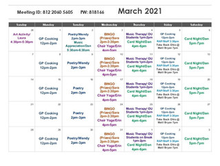 Zoom Calendar