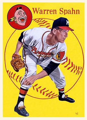Warren Spahn, Milwaukee Braves, 1954 Topps, 1958 Topps