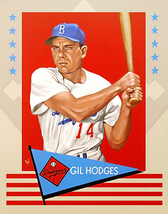 Gil Hodges, 1961 Fleer, Brooklyn Dodgers