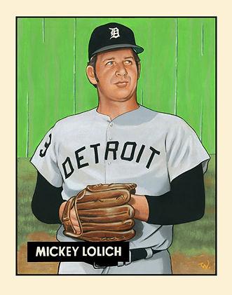 Mickey Lolich, Detroit Tigers, 1952 Bowman Card