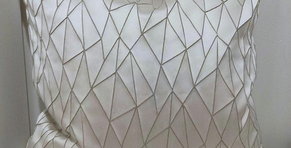45x45 Driftwood Textured Geometric Cushion Cover