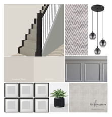 mood board for stairs and landing design