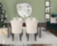 dining room designed ready with christmas inspiration