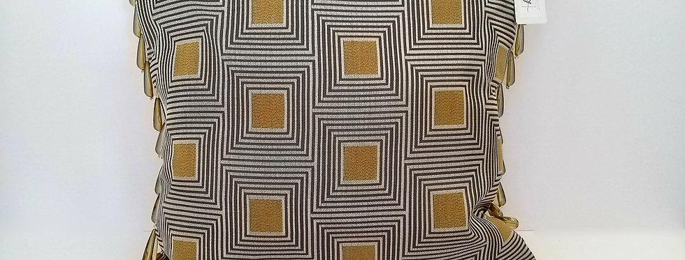 Ka Cushions- Gold 40cm Cushion with Teardrop Trim