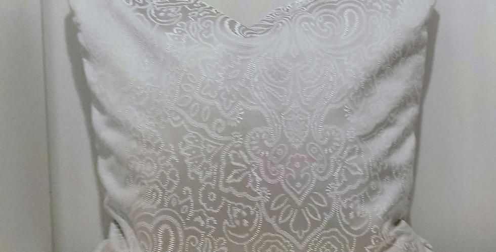 45x45 Flint Damask Cushion Cover