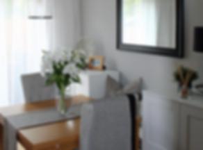 dining room designed using e-design