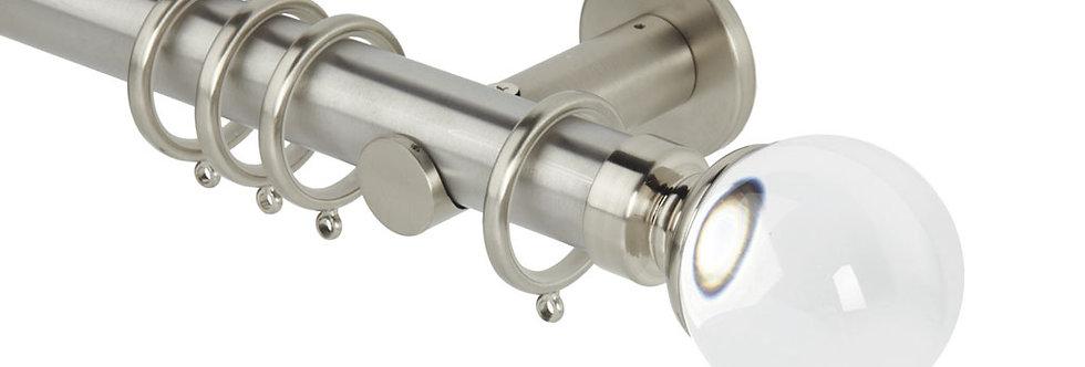 35mm Clear Ball S/Steel Pole