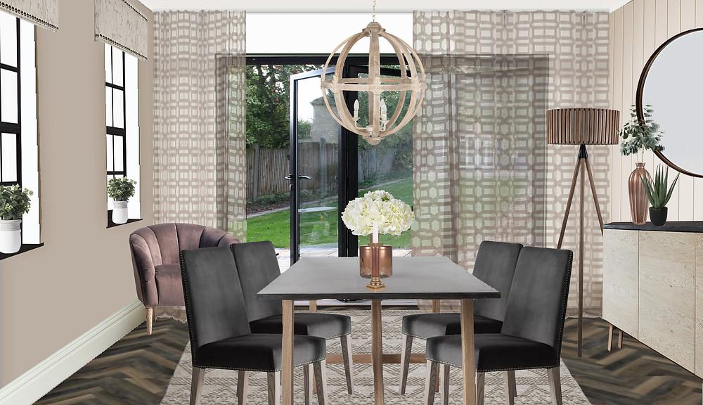 Ka Interiors dining room design ready for winter
