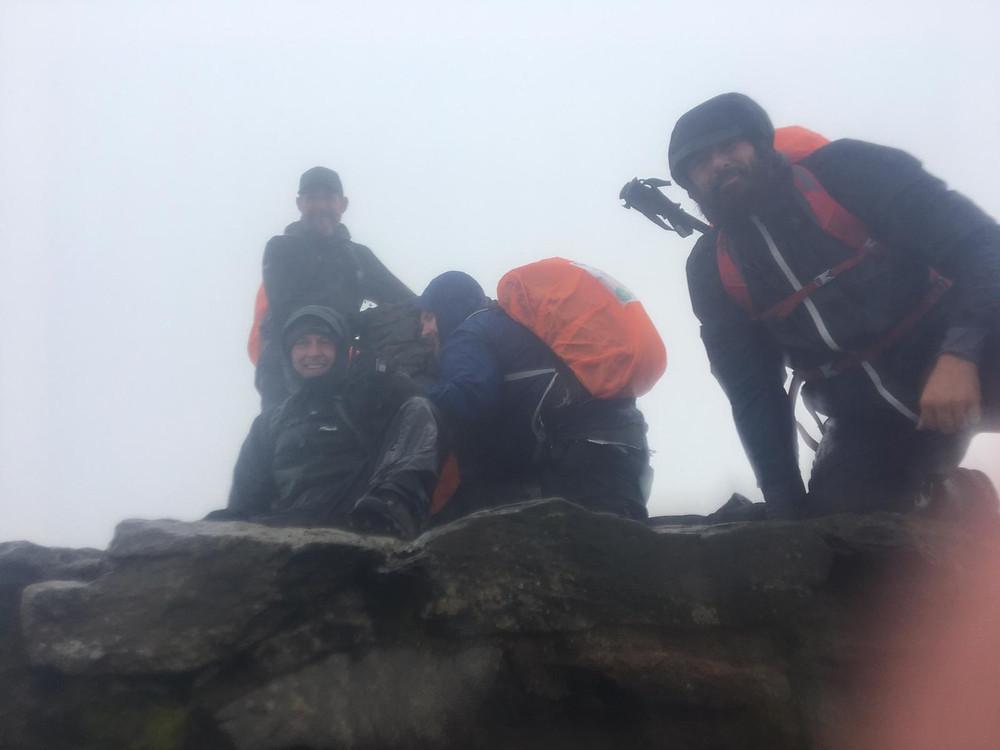 A windy Snowdon summit