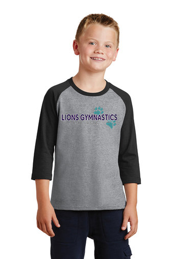 LionsGymnastics-Youth Baseball Style Shirt-Logo 2