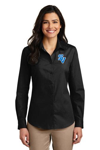 SVEvansCity-Women's Button Down Shirt