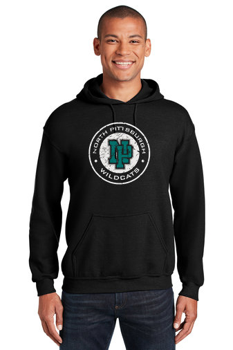 NP Wildcats-Hoodie-Distressed Logo