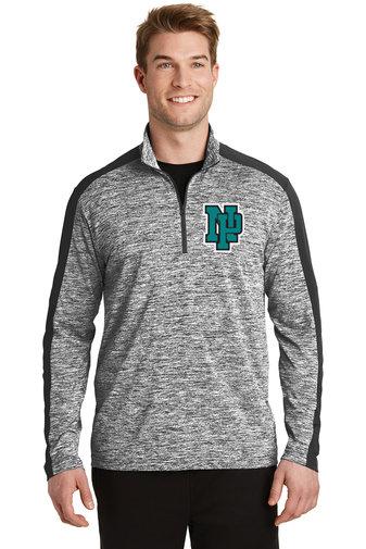 NP Wildcats-Men's Quarter Zip Electric Jacket