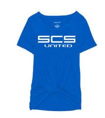 SCS-Women's Short Sleeve Twisted Shirt