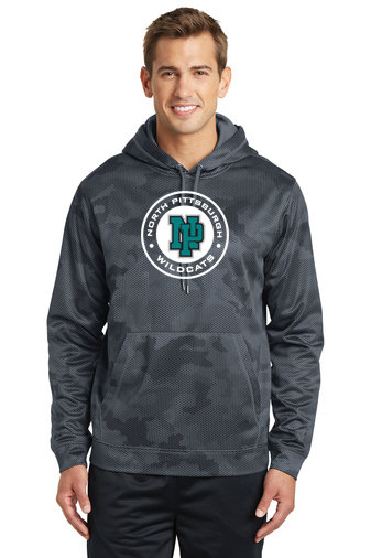 NP Wildcats-Performance Camohex Hoodie-Round Logo