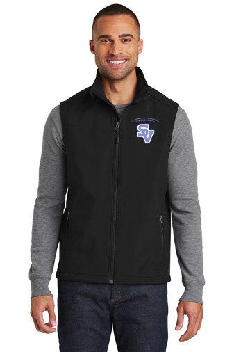 SVFootball-Men's Full Zip Soft Shell Vest
