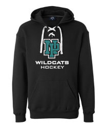 NP Wildcats-Lace Up Hoodie-NP Logo
