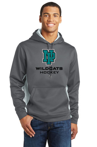 NP Wildcats-Performance Hoodie Camohex Sides-NP Logo