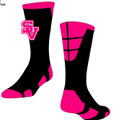 SVJuniorFootball-Pink Custom SV Socks