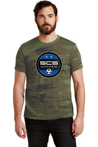 SCS-Men's Camo Short Sleeve Shirt-Round Logo