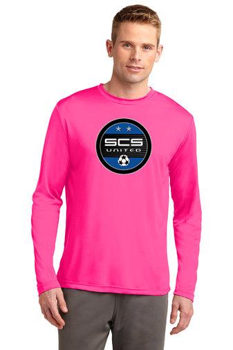 SCS-Pink Long Sleeve Dri Fit-Round Logo