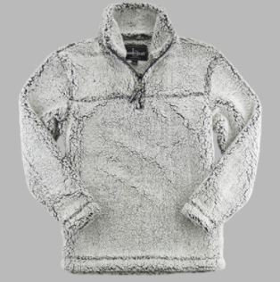 FlashSale!-Unisex Frosty Gray Quarter Zip Sherpa