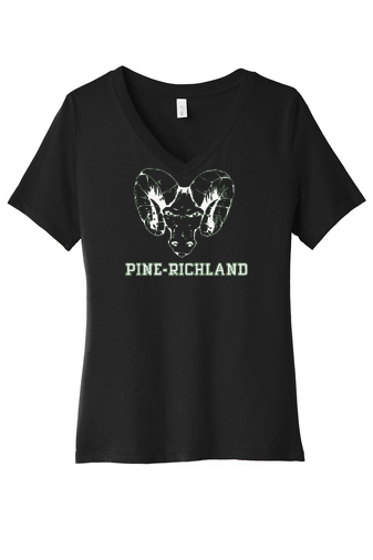 PRHance-Women's V-Neck Shirt-Ram Head Design