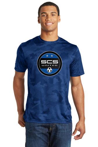 SCS-Camohex Short Sleeve Dri Fit Shirt-Round Logo