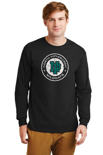NP Wildcats-Long Sleeve Shirt-Distressed Logo