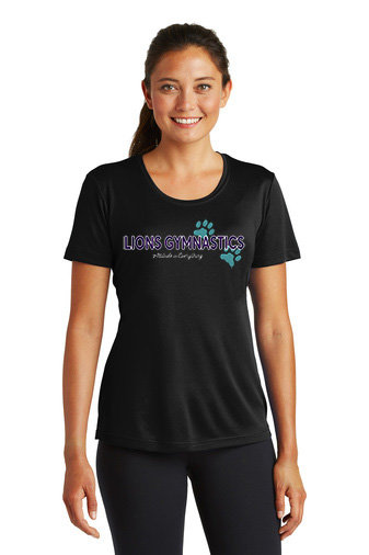 LionsGymnastics-Women's Short Sleeve Dri Fit-Logo 2